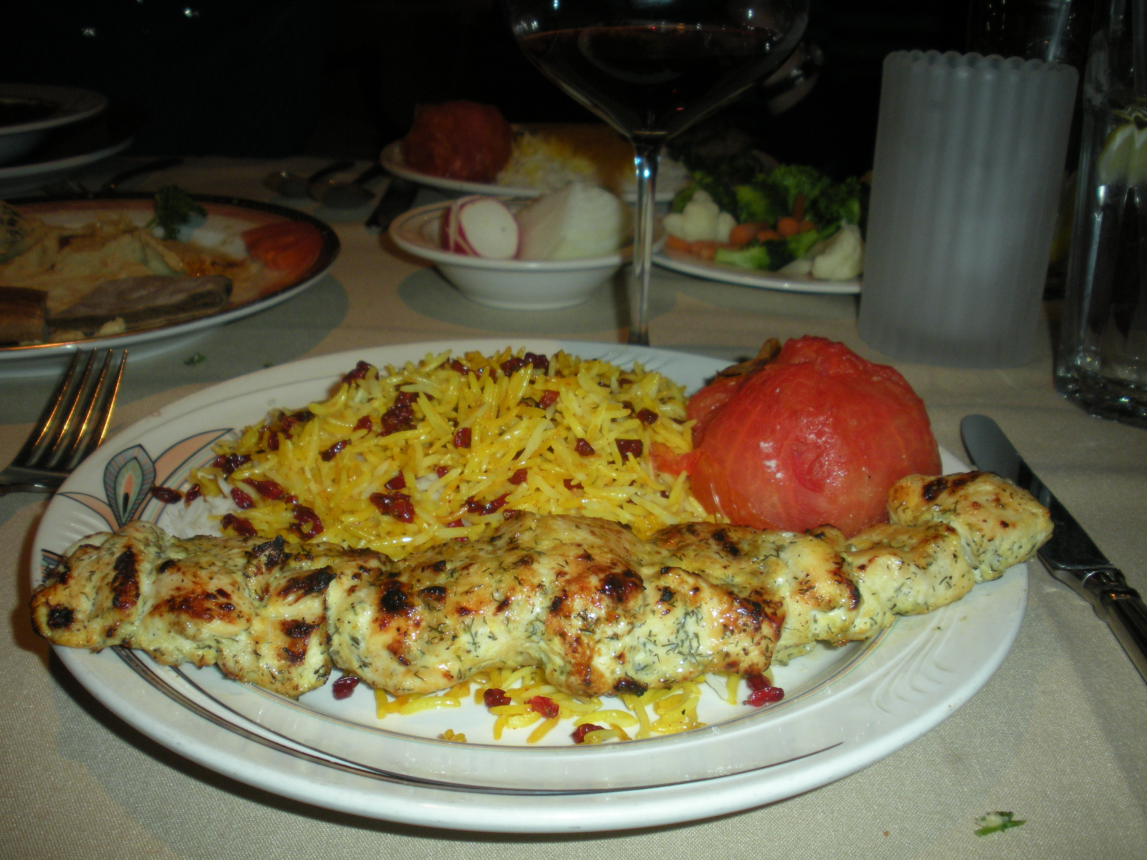 Lipstick jihad habib s persian cuisine becky a johnson for Ahmads persian cuisine